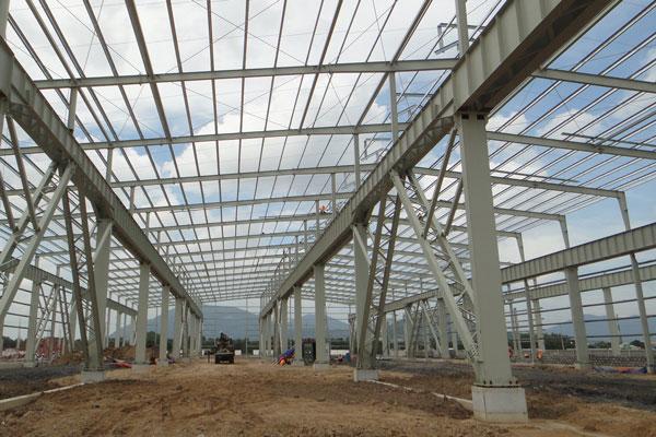 Prefabricated steel structure warehouse/workshop